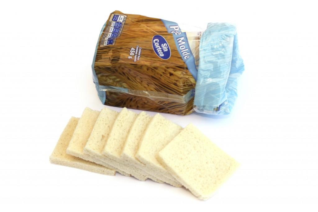 pan molde sin corteza
